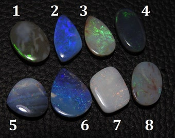 AUSTRALIAN Boulder Opal Doublet 1.Piece Smooth Fancy Shape Cabochon 100% Natural Awesome AAA Quality Discounted Price