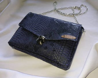 Elegant clutch in blue
