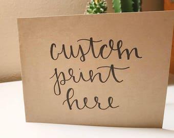 greeting card: customizable