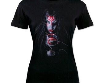 Gothic Vampire Woman Frau Woman T-Shirt