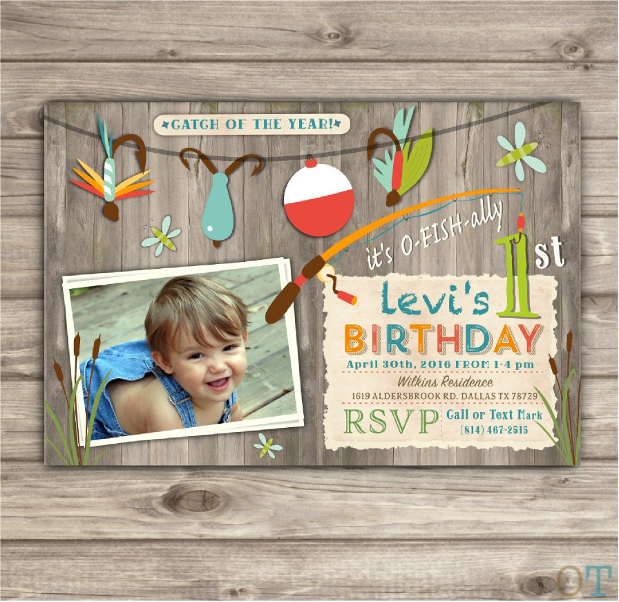 Photo Gone Fishing Birthday Invitations Were Reel Excited