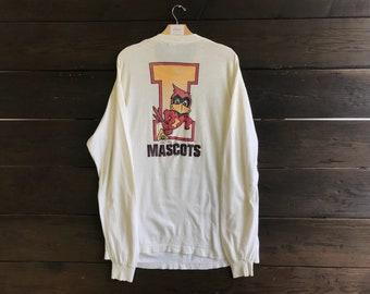 Vintage 80s Iowa State Mascots Sweatshirt