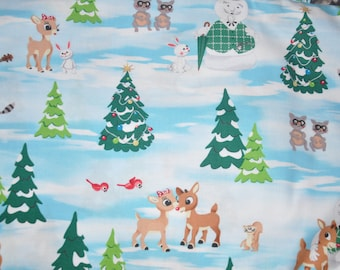 New!  Rudolph the Red Nose Reindeer 100% Cotton Quilt fabric by Quilting Treasures