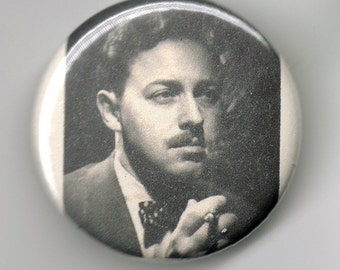 Tennessee Williams Playwright Portrait 1.25 inch Button