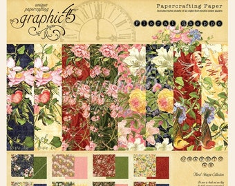 NEW!!! Graphic 45 Floral Shoppe 8x8 Paper Pad SC007775