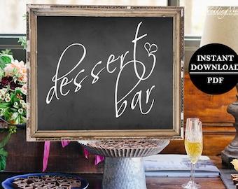 Dessert Table Bar Sign Printable Dessert Bar Sign DIY Dessert Sign PDF Wedding Refreshment Sign Dessert Printable Sign Reception Sign 011