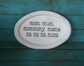 Humorous Mom Mum Mommy Sign from Family Guy Mother's Day Gift Customizeable Choose Your Colors