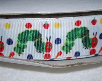 "Caterpillar, Sisters, Santa, Blue Holiday,or Birthday Girl 1"" Polyester Grosgrain Ribbon"