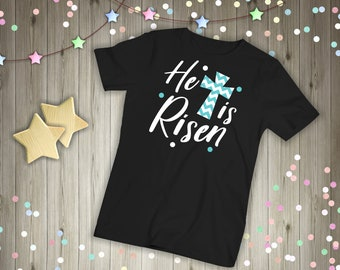 He Is Risen Shirt, Women's Easter Shirt, Easter Top, Ladies Easter Shirt, He Is Risen Indeed, Christian Easter, Easter Graphic Tee, Clothing