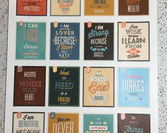 Motivational Quotes Planner Stickers #3, Motivational Quote Planning Stickers, Erin Condren Stickers, Day Designer Stickers, ECLP Stickers