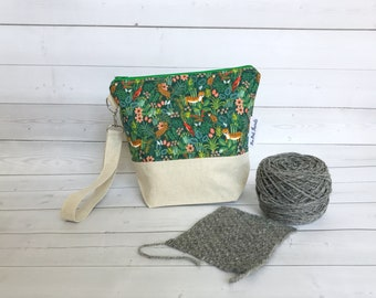 Small Yarn Bag/Project Bag for Knitting/Large Project Bag/Knitting Project Bag/Crochet Project Bag/Tiger Project Bag-Rifle Paper Company