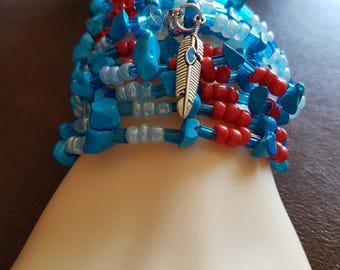 SOUTHWESTERN  Stretch Wrap Bracelet/anklet/necklace