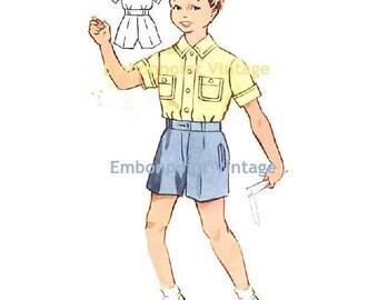 Plus Size (or any size) Vintage 1950s Boy's Shorts Pattern - PDF - Pattern No 178b Donald Shorts