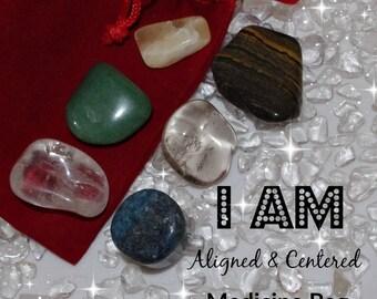 Aligned & Centered Crystal Medicine Bag I AM Balanced / Centered / Chakra Aligned
