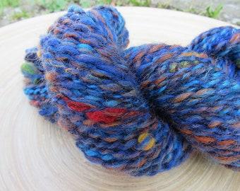 Handspun yarn - merino wool locks mix - thread plied - 52 grams 110 yards