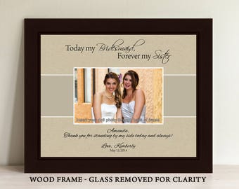 Bridesmaid Picture Frame, Maid of Honor Frame, Personalized Gifts, Custom Picture Frame