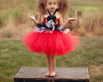 Ringmaster Tutu Dress and Hat- Circus Costume- Lion Tamer Costume- Ringmaster Costume