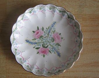 Vintage Spode Velamour Floral Pin Dish