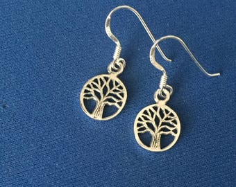 tree of life drop earrings sterling silver .925