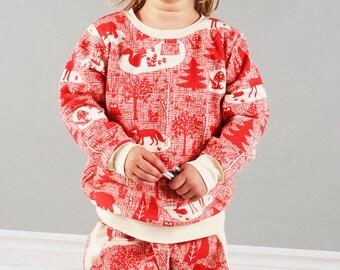 Children crew neck sweatshirt sewing pattern // digital download // photo tutorial //  sizes 0-6T // #32