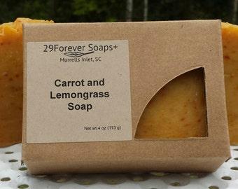 Carrot & Lemongrass Soap - Carrot Soap - Lemongrass Soap - Dry Skin Soap - Moisturizing Soap - Turmeric Soap - Moisturizing Cleanser