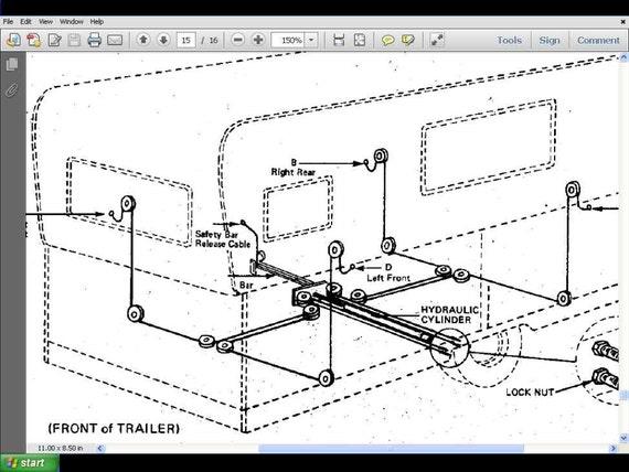 hi lo camper trailer service manuals 380pg for towlite rv rh etsy com Camper Wiring Diagram 30A Lance Camper Wiring Diagram