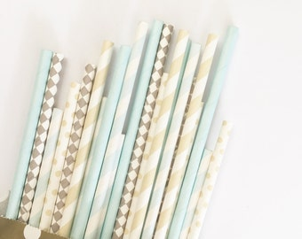 Baby Boy Vintage straw mix//party favor, party decorations, baby shower, paper straws, straws, party supplies, bachelorette party, wedding