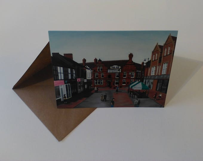 Sandbach High Street - Greeting Card with Envelope in Cellophane Wrapping