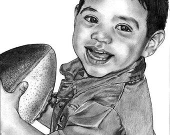 Custom 8 x 10 Portrait in Pencil
