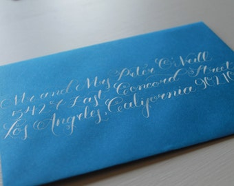 Custom Calligraphy Wedding Envelope