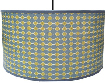 LAMPSHADE PATTERN VINTAGE BLUE AND LIME