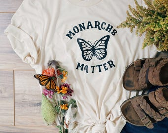 Womens Graphic Tee, Butterfly Shirts, Monarch, Save the Butterflies, Protect the Planet, Monarchs Matter, Butterflies, Awareness, Tee