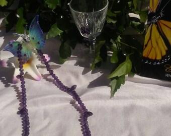 """Purple Glaze Crystal 18"""" necklace & earrings set"""
