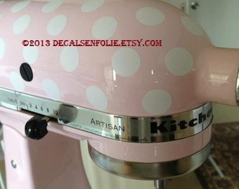 "Kitchen Mixer / Appliance Removable Vinyl Decal / Sticker - 81 3/4"" Polka Dots (for Cuisinart, KitchenAid, Kitchen Aid, other appliances)"