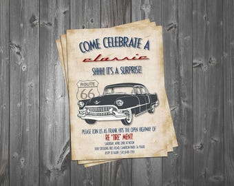 Classic car party Etsy