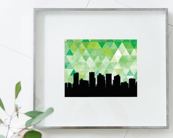 Phoenix Arizona print | Phoenix Arizona art print | Phoenix Arizona skyline art | Phoenix skyline art | Phoenix skyline print | Phoenix gift