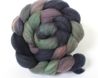 4oz BFL Mixed Blue Faced Leicester 'Mood Ring' Combed Top Roving Dyed Wool Spinning Fiber Indie