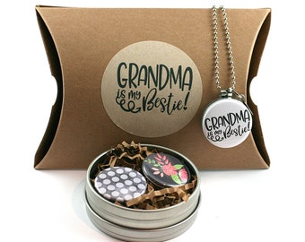 Grandma Gift • Grandma Jewelry • Grandma Locket • Gift from Grandson • Grandma Bestie • New Grandma, Grandma To Be • Gift from Granddaughter