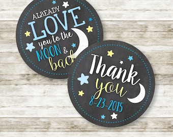 Love You to the Moon and Back Favor and Thank You Tags | Printable DIY Tags