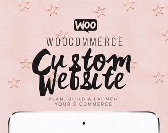 Custom Woocommerce E-Commerce Website Design, Custom Website Design, Online Store Business Web Design, Responsive Website Template