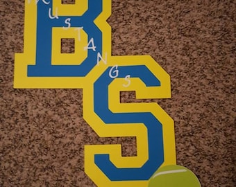 Custom tennis locker decoration. Show support for your athlete or student and decorate with these cute decorations.