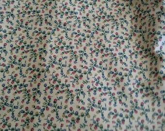 Waverly Decorator Fabric Sally's Posies Large Piece 2 1/3 Yards X1187