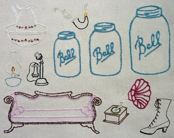 Antique Shop Hand Embroidery Pattern. Classic Series