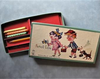 Vintage Hasbro Pencil Case, Sliding Box