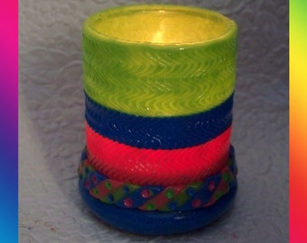 Rainbow Tealight Candle Holder