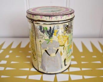 Vintage Quality street tin / container / Pot. Retro kitchen storage.