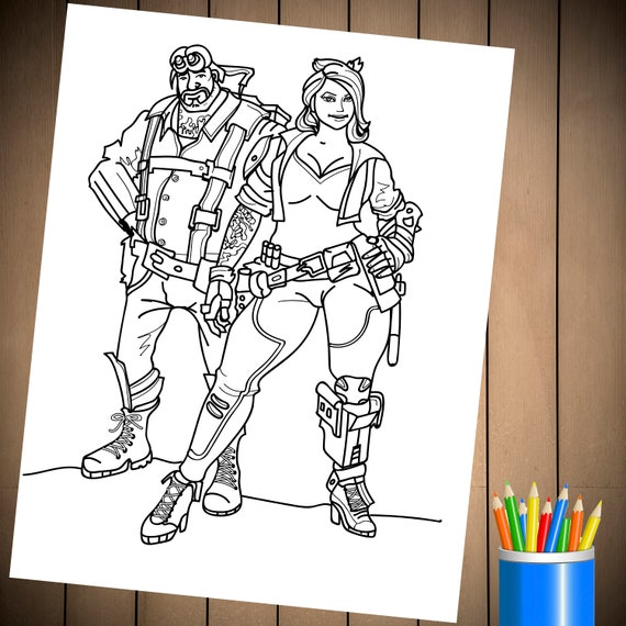 fortnite battle royale coloring page for birthday party