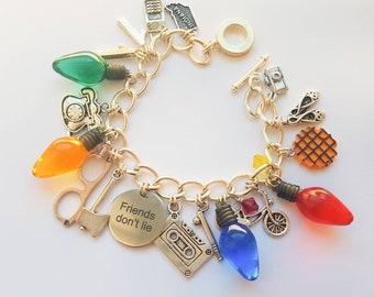 Friends Don't Lie Charm Bracelet- inspired by Stranger Things