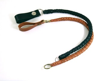 Leather Lanyard, Wallet Chain, Lanyard Wallet, Braided Chain , Leather Lanyard Keychain, Braided Leather Keychain , Leather Braided Chain