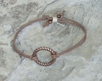Brown & copper bracelet